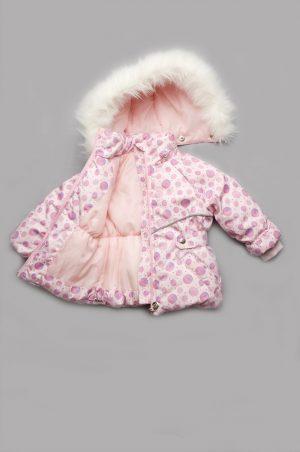 детская розовая куртка костюм зима с опушкой