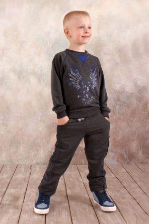 спортивный костюм серый реглан брюки для мальчика