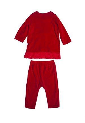 недорогой рождественский костюм красный для девочки