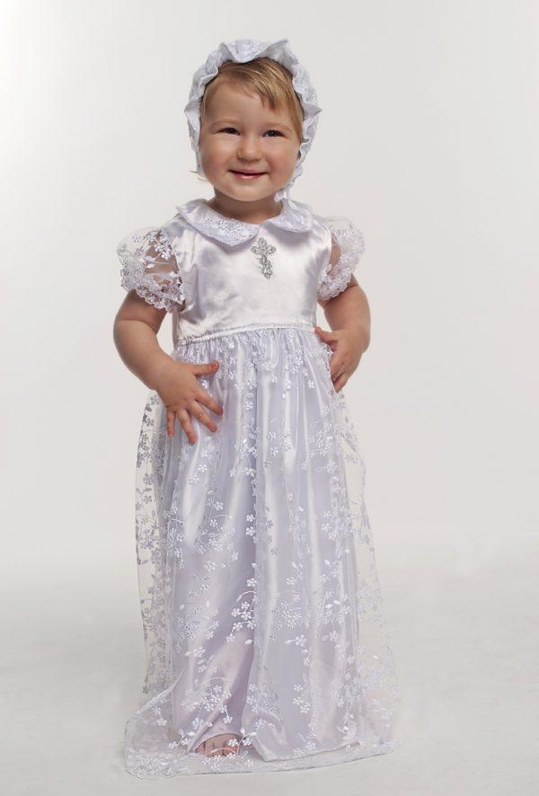 красивый комплект для крещения девочки недорого