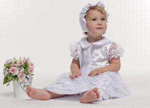 нарядный комплект для крещения девочки недорого