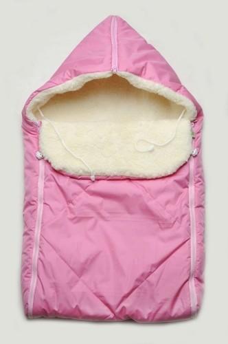 недорогой зимний конверт на овчине для девочки