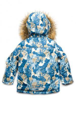 теплая куртка принт буквы зима недорого