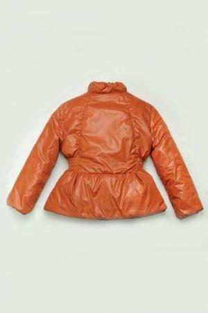 теплая демисезонная куртка для девочки терракот