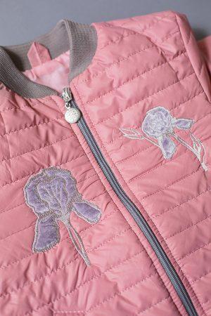 детская куртка деми вышивка цветок ирис купить