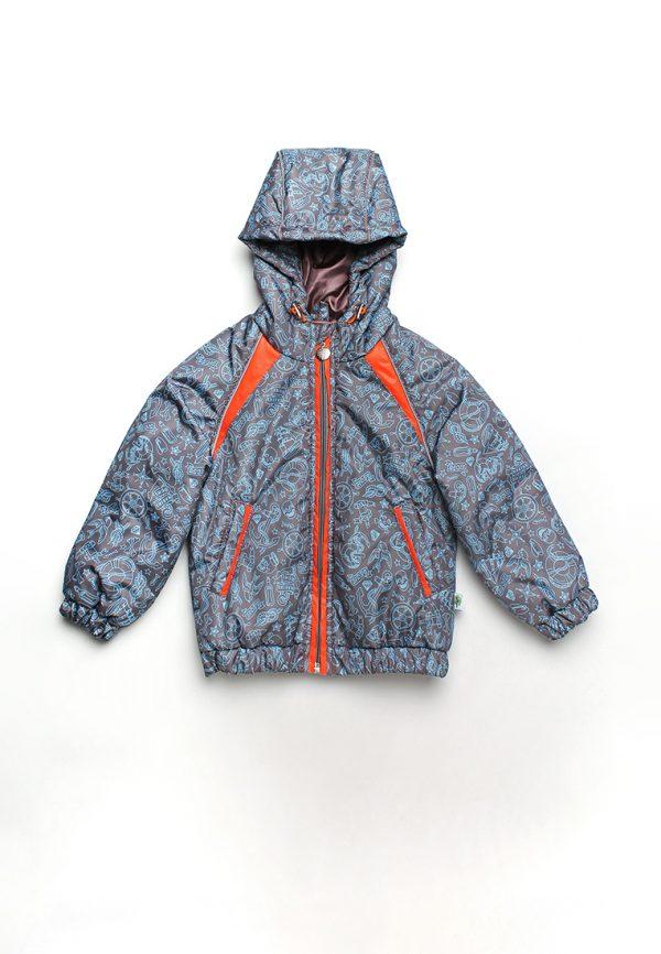 куртка деми с яркими вставками для мальчика купить