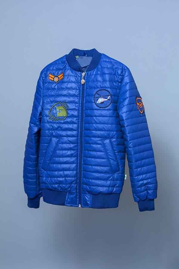 куртка деми синяя для мальчика с аппликацией купить Днепр