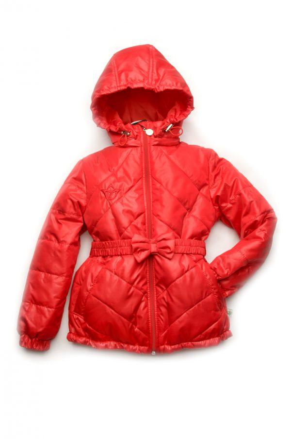 красивая куртка демисезонная для девочки красная недорого