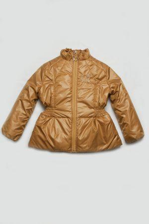 золотистая куртка для девочки деми купить недорого