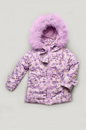 куртка зимняя для девочки лаванда недорого