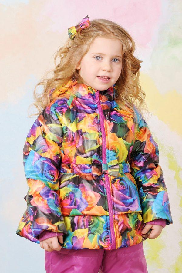 яркая куртка с баской деми купить Украина