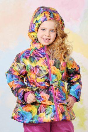 яркая демисезонная куртка для девочки купить Днепр