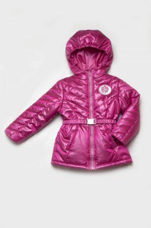 малиновая куртка в спортивном стиле для девочки