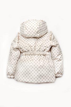 куртка в горошек с капюшоном для девочки
