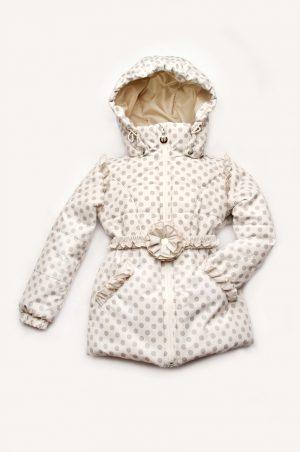 элегантная куртка в горошек для девочки