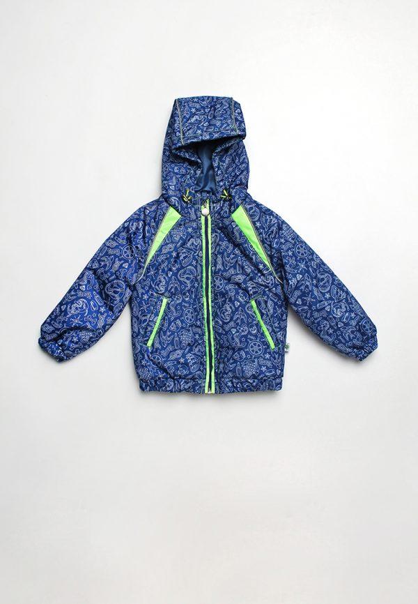 недорогая куртка ветровка для мальчика с яркими вставками