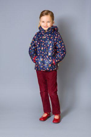 детская куртка жилет розочки недорого