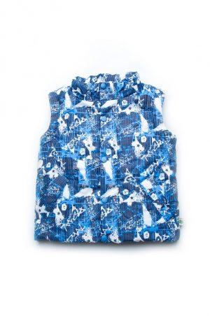 качественная куртка жилет для мальчика синий принт купить Харьков