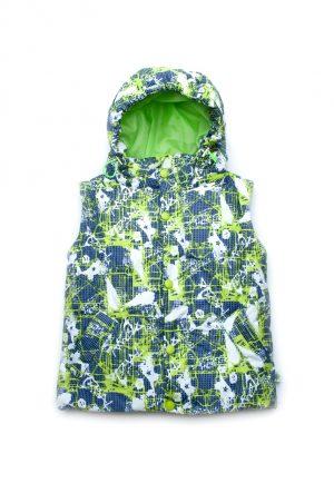 купить куртка жилет зеленый принт для мальчика Украина