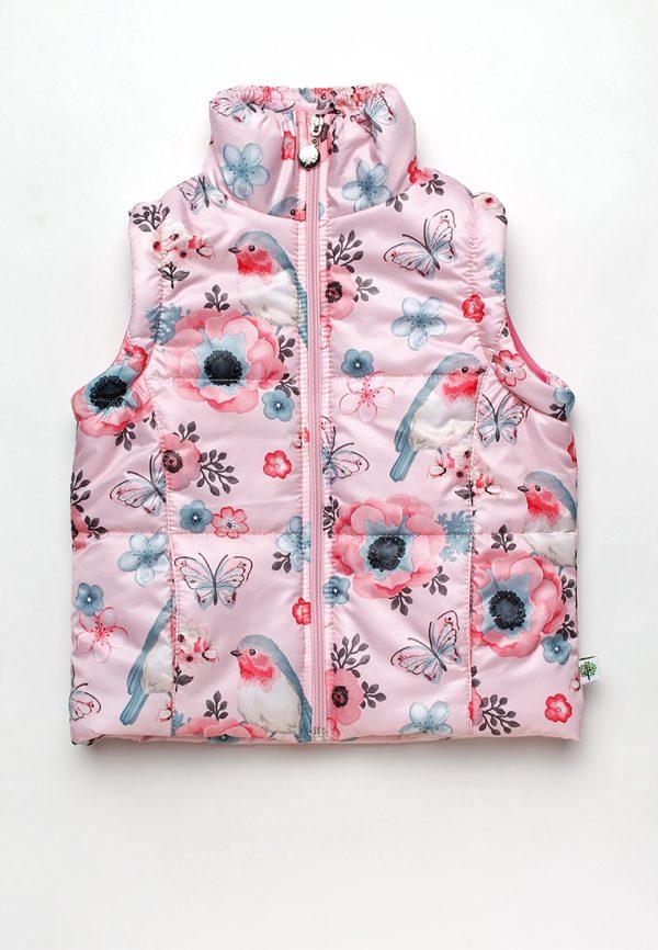 Детская куртка жилет для девочки