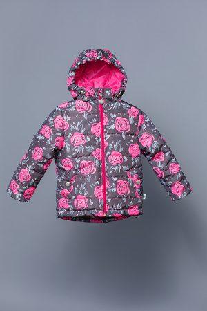 утепленная куртка деми для девочки розы купить