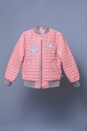 недорогая куртка для девочки ирис розовая