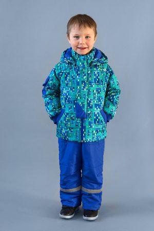 качественная куртка принт домики недорого