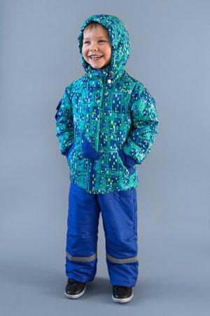 демисезонная куртка принт домики для мальчика