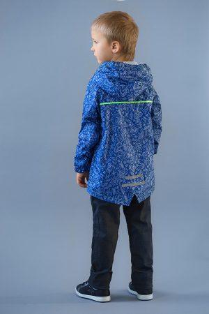 детская ветровка с капюшоном синяя