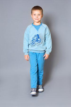 реглан голубой с синим брюки спортивные для мальчика недорого