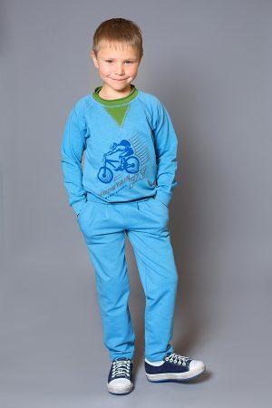 спортивные брюки реглан голубые для мальчика