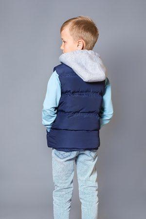 стильная жилетка с капюшоном для мальчика купить Днепр