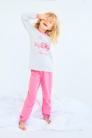 розовая пижама совушки для девочки