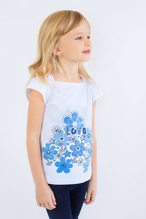 красивая футболка для девочки недорого