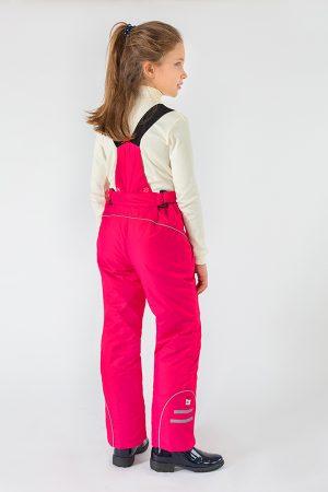 теплые брюки с отстегивающимися бретелями для девочки купить