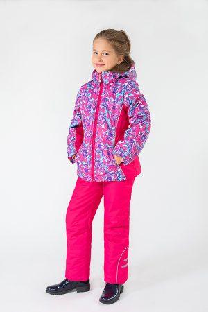 яркая розовая куртка брюки зима для девочки купить Киев