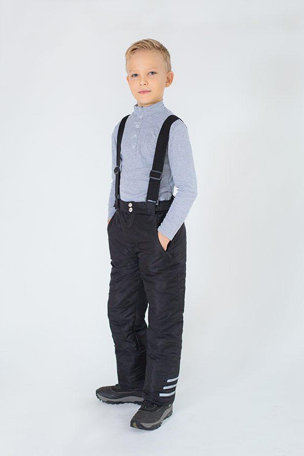 зимние брюки на подтяжках для мальчика купить