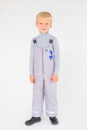 светлый комбинезон на фастексах зима для мальчика
