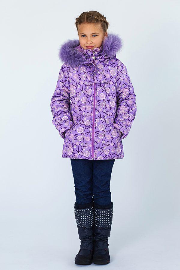 удлиненная зимняя куртка для девочки купить Харьков