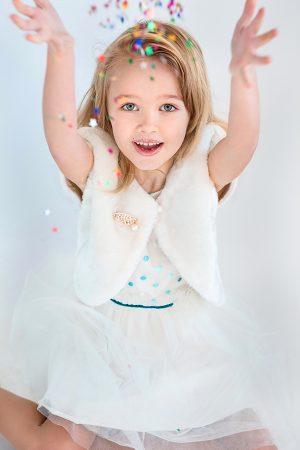 нарядное платье болеро меховое для девочки купить недорого