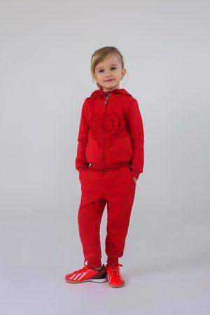 яркий утепленный спортивный костюм для девочки купить