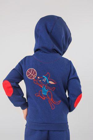 спортивная кофта на молнии с капюшоном принт для мальчика купить Киев