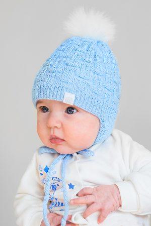 зимняя шапочка для новорожденного недорого