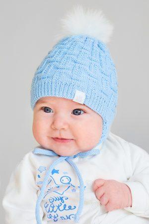зимняя шапка для новорожденного на флисовой подкладке