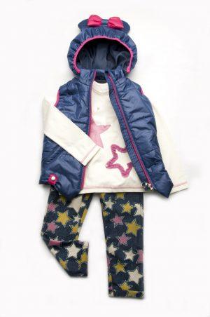 реглан джинсы звезды жилетка микки стильный образ для девочки