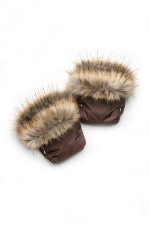 зимние рукавицы муфта на коляску чернобурка купить Харьков