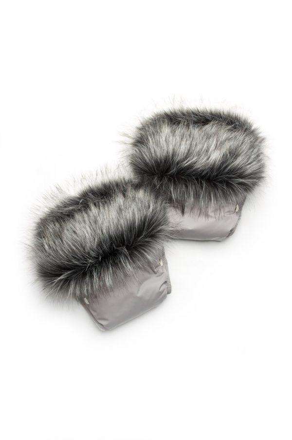 купить теплые рукавицы на коляску чернобурка недорого