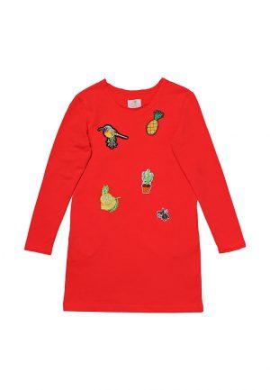 купить оригинальное детское платье с аппликацией