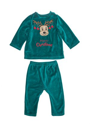 кофта с оленем штаны из велюра для мальчика