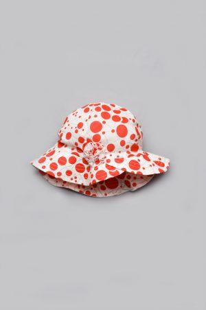 панама для девочки красный горох купить с доставкой